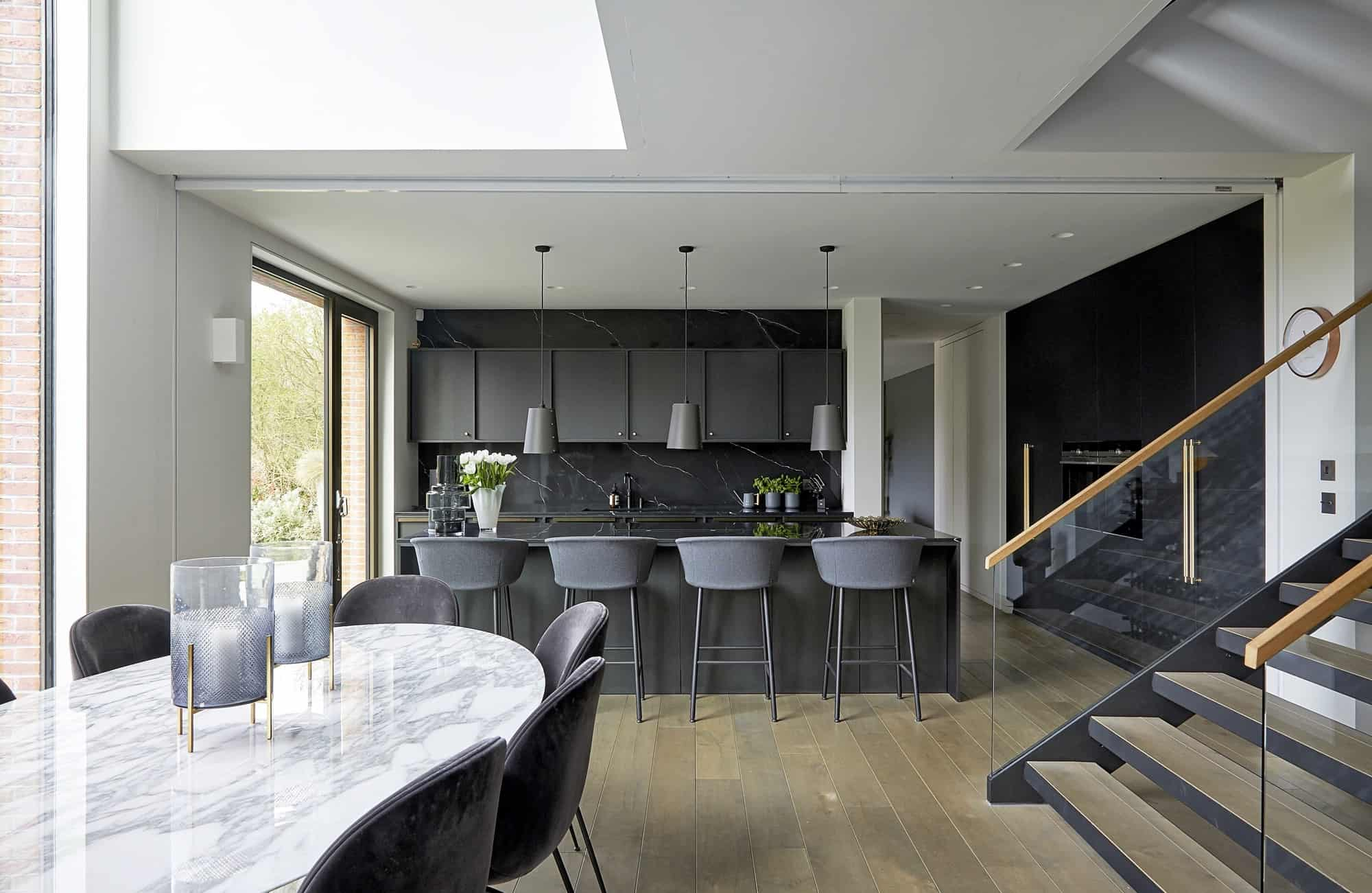Oak Hill BR7 - A contemporary, architect designed property with a multi-level layout and double height windows - The Location Guys