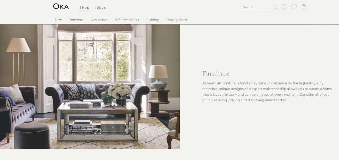 OKA Furniture Brand Choose TLG - The Location Guys